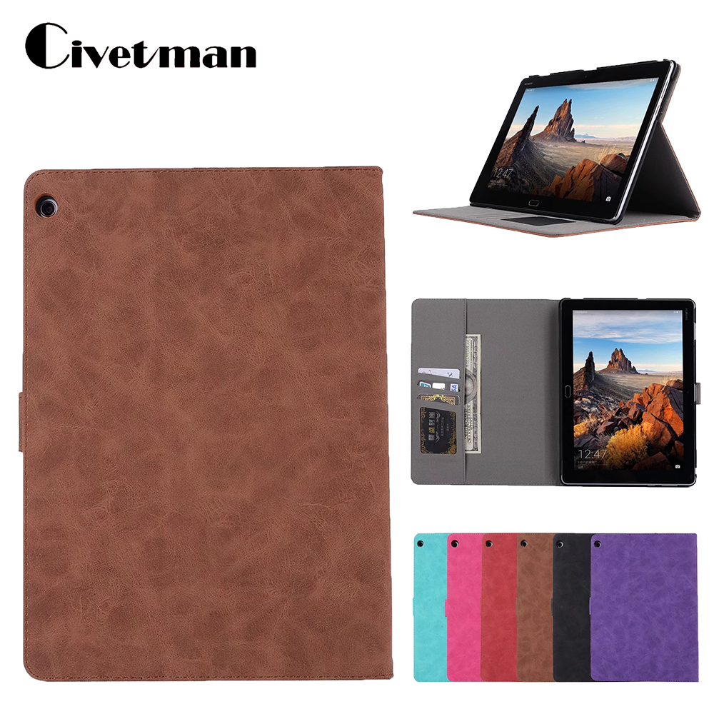 M3 LITE 10.0 10.1 Retro Stand Leather Case Flip Cover For Huawei MediaPad M3 Lite 10 BAH-W09 BAH-AL00 10.1 tablet case shell for huawei mediapad m3 lite 8 0 inch cpn al00 m3lite tablet case 360 rotating bracket flip stand leather cover
