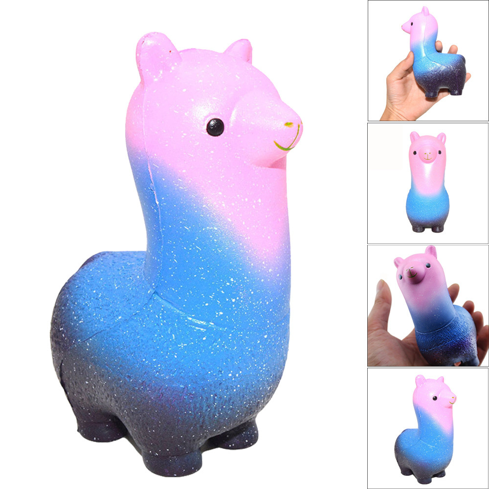 Squishy Rainbow Alpaca Phone Straps Slow Rising Bun Charms Gifts Toys Stress Reliever Play Hand Squeeze Toy Nice Gift