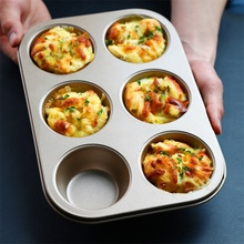 2019 New 6 Connected Cake Mold Round Muffin Oven Baking Tray Home Garden Kitchen Dining Bake Ware