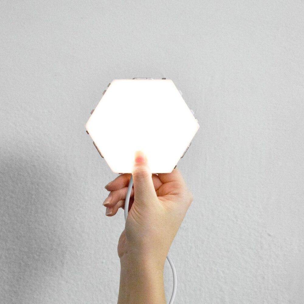 14 pçsset Quantum DIY Luz Noturna Sensível