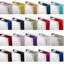 15PCS Satin Table Runners Wedding Party Event Decor Supply Satin Fabric Chair Sash Bow Table Cover Tablecloth 30cm*275cm