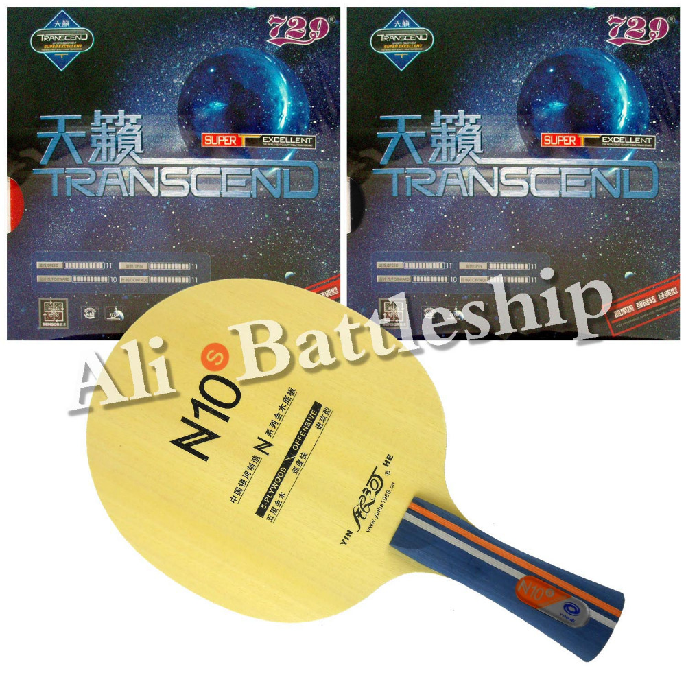 Original Galaxy YINHE N10s Table Tennis Blade with 2x RITC 729 Transcend Cream Rubber With Sponge Long Shakehand FL galaxy yinhe emery paper racket ep 150 sandpaper table tennis paddle long shakehand st