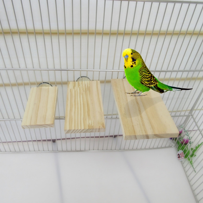 Pet Birds Small Animals Springboard Toys Anti Bite Rectangle For Hamster Parrot ...
