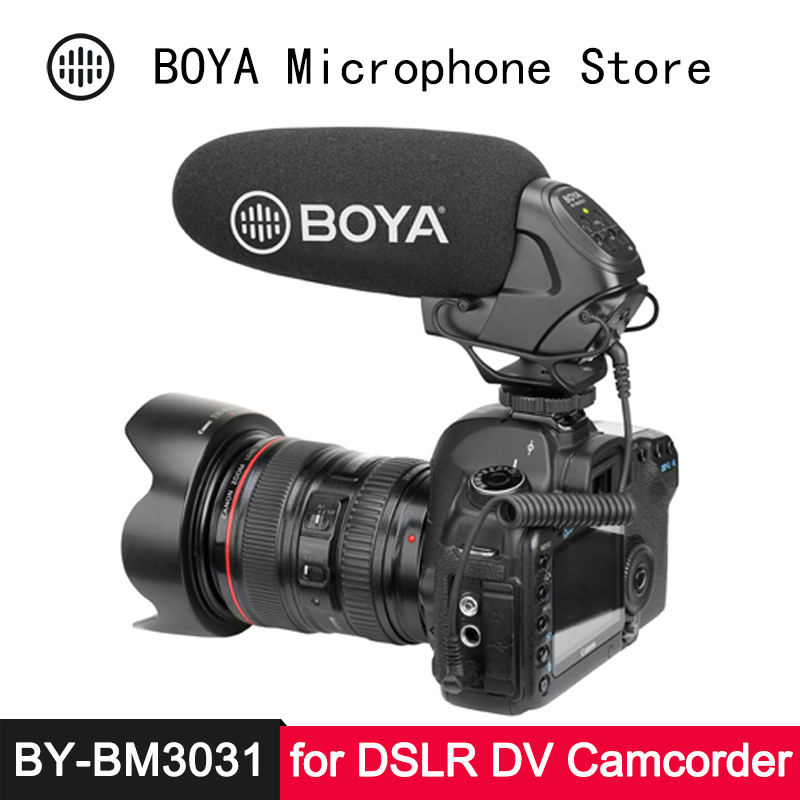 BOYA BY-BM3031 On-Camera Shotgun Microphone For Canon EOS Nikon Pentax Panasonic DSLR Video Camera Camcorder Audio Recorder Mic