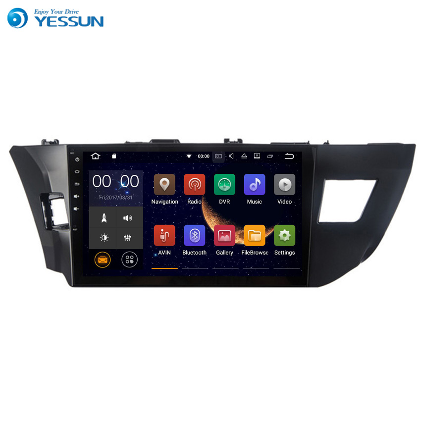 Yessun For TOYOTA Corolla / Levin 2013~2016 Android 6.0 Multimedia Player System Car Radio Stereo GPS Navigation Audio Video