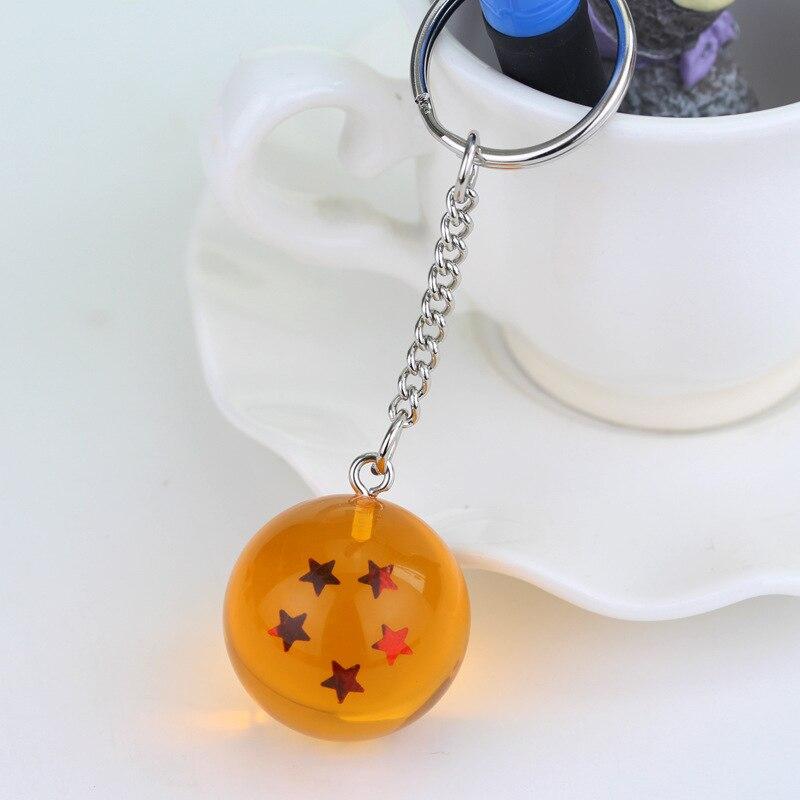 Мода Аниме Шарм Гоку Драконий жемчуг супер брелок 3D 1-7 звезд Косплей хрустальный шар брелок Коллекция игрушек подарок брелок