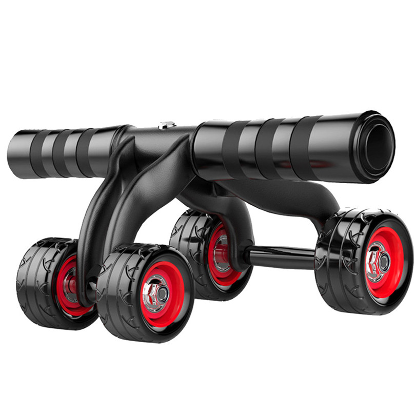 4 Wheels Push-up stand wheel Abdominal Exercise Push Wheel Fitness Training Equipment high quality ABS protection support #2s13 new arrival high quality exercise equipment professional 4 wheels abdominal ab roller indoor fitness crossfit equipment