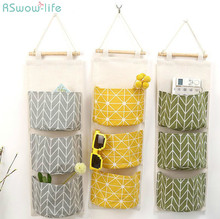 Cotton And linen Waterproof Storage Hanging Bag Multi-layer For Kitchen Products
