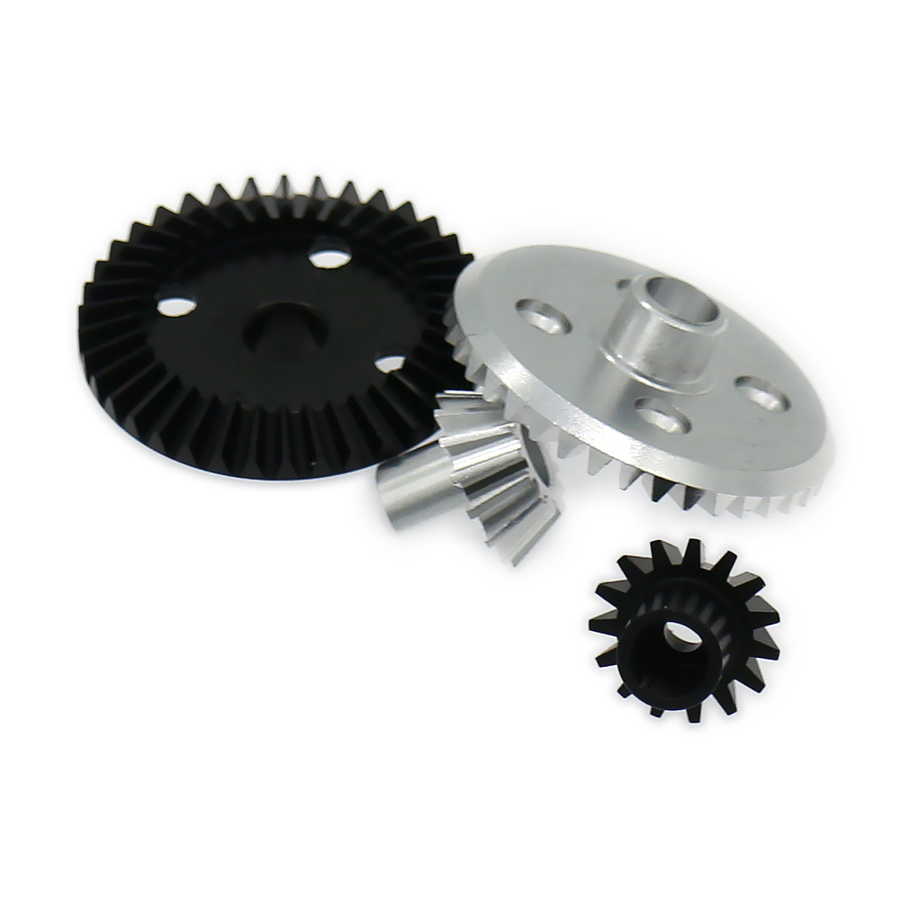 Differential Ring Gear+Pinion Gear For Rc Hobby Model Car 1/18 Wltoys A959 A969 A979 K929 A580071S Gear Box 7075 Top Level Alloy front diff gear differential gear for wltoys 12428 12423 1 12 rc car spare parts