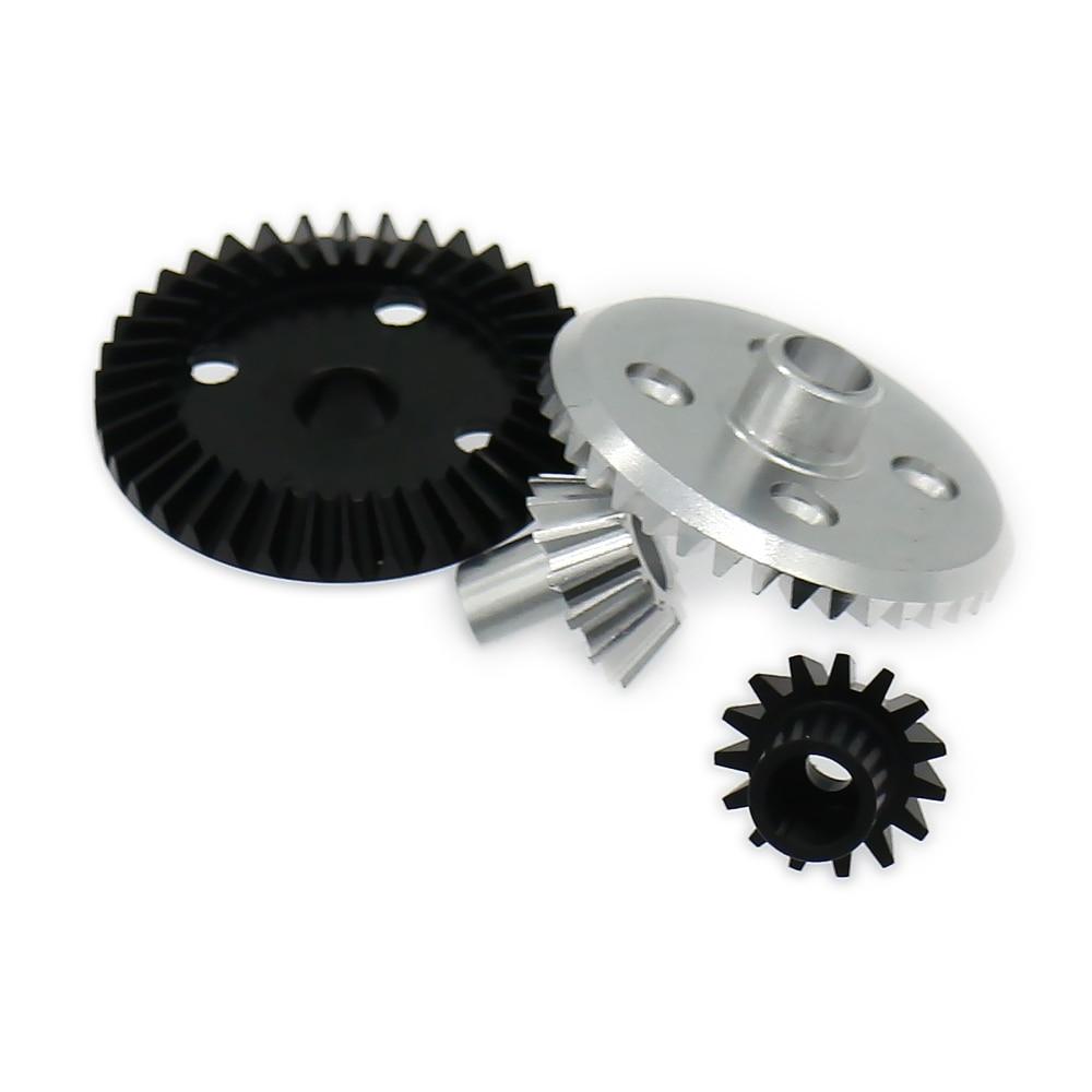 Differential Ring Gear+Pinion Gear For Rc Hobby Model Car 1/18 Wltoys A959 A969 A979 K929 A580071S Gear Box 7075 Top Level Alloy jx pdi 5521mg 20kg high torque metal gear digital servo for rc model