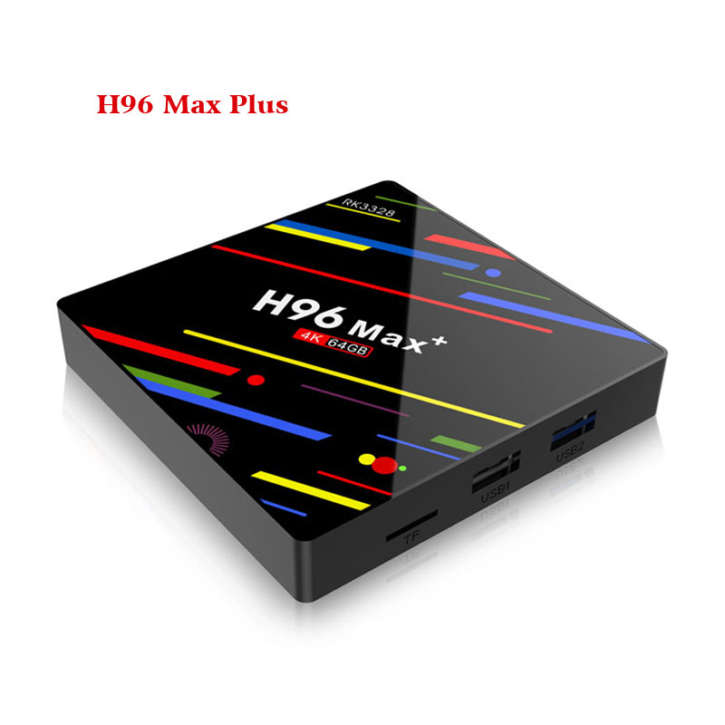 Android 8.1 Box TV inteligente H96 Max Plus 2 GB RAM 16 GB ROM Rockchip RK3328 H.265 4 K 2.4G/5 Ghz double WIFI TVbox pk Mi S X96-in Décodeurs TV from Electronique    2