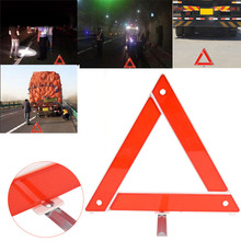 Temporary Safety Warning Sign Car Emergency Breakdown Triangle Red Reflective Hazard Tripod Folded Stop