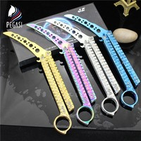 PEGASI Butterfly In Knife CS GO Practice Folding Knife Butterfly Trainer Game Knife Dull Blade Not