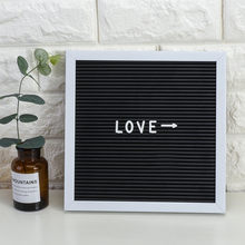 Wood Blackboard Felt Letter Board Sign Message Home Office Decor Board Oak Frame Letters 143 Letters Numbers Symbol Decoration(China)