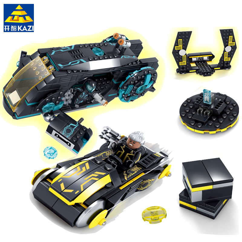 KAZI 493Pcs Future Police Space Ship Racing Car War Weapon X-men Building Blocks Bricks Educational Toys for children