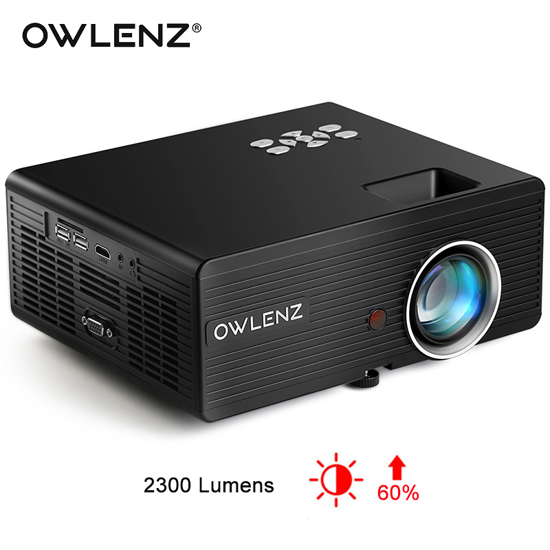 Hiperdeal Home Cinema Theater Multimedia Led Lcd Projector: OWLENZ SD70 Multimedia Portable Mini Projector LED LCD
