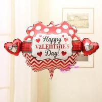 Valentine bóng bay globos ballons helium inflatable foil personalized đảng nguồn cung cấp trang trí tim balloon