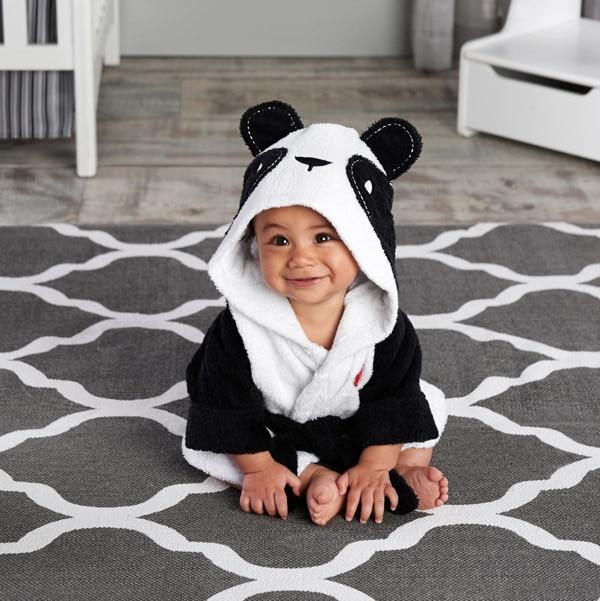 Розничная ; 16 дизайнов; детское банное полотенце с капюшоном; купальный халат с изображениями животных; детские пижамы с героями мультфильмов - Цвет: new panda