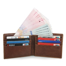Top Grade Genuine Leather Short Wallet Card Holder Casual Fashion With RFID Function R-8104C