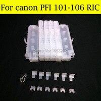 Canon ipf6100 ipf5100 프린터 용 canon PFI-101 PFI-103 리필 잉크 카트리지 교체
