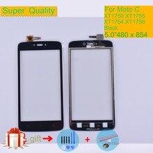 Сенсорный экран 5,0 дюйма для Motorola Moto C Touch XT1750 XT1755 XT1754 XT1756, дигитайзер, передняя стеклянная панель, датчик, черный