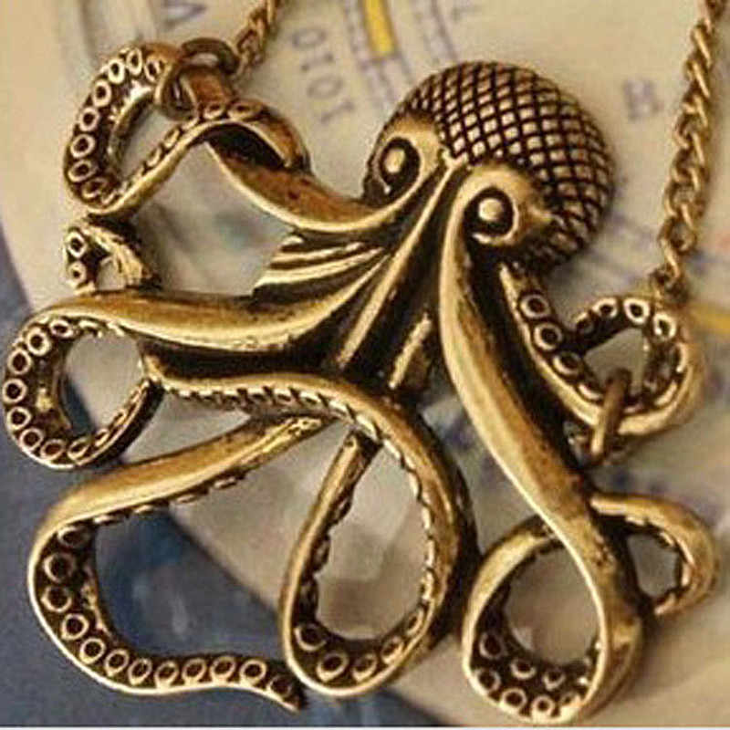N152 Antique Pendant Necklace Long Chain Retro Elephant Owl Letters Necklaces Fashion Jewelry for Women Gift Everyday Wear 2018