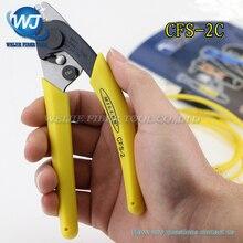 Stripper de cabo de fibra óptica original para descascar a fibra de 125 mícrons, alicate de nariz duplo, pinça miller, ferramentas ftth, CFS 2