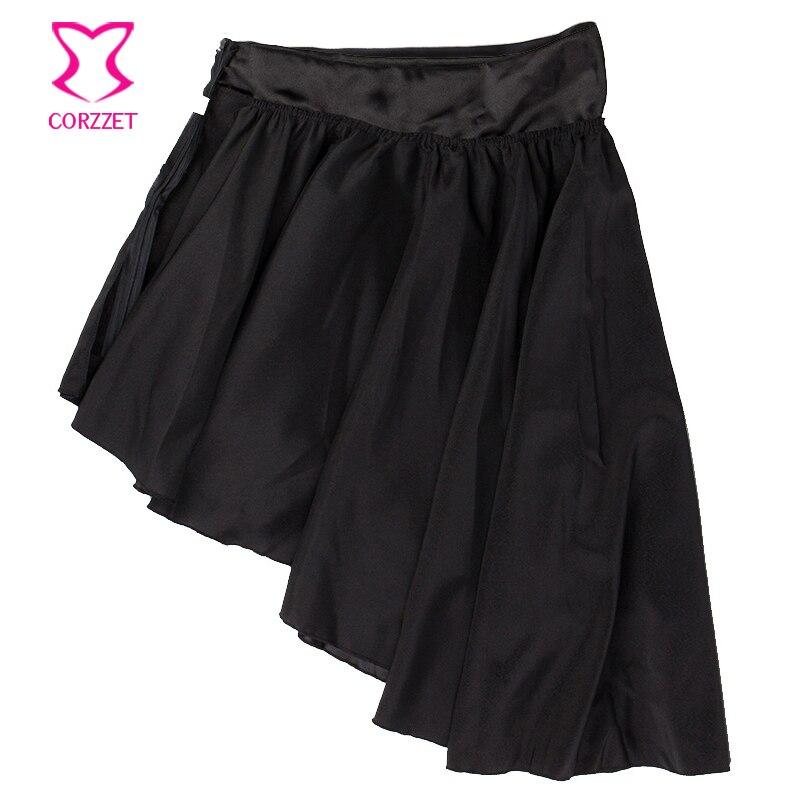 002170ba5 € 21.61 40% de DESCUENTO|Corzzet Retro marrón satinado Reffle 4 capas falda  Burlesque disfraz victoriano Steampunk gótico faldas para mujer corsé ...