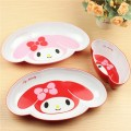 2016 New Melamine Baby Infant Cute Feeding Plate Fruit Dishes Kids Carter Melody Pattern Child Tableware