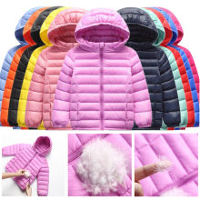 Children Winter Jacket 90% Duck Down Light Soft Kids Hooded Outerwear Coat For Toddler Boys Girls 2-12 Years Parkas Coat Clj308(China)