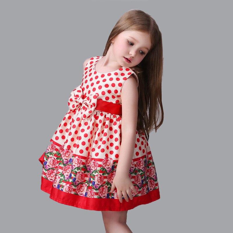 Europa Estados Unidos moda niña de las flores impresión dots ...
