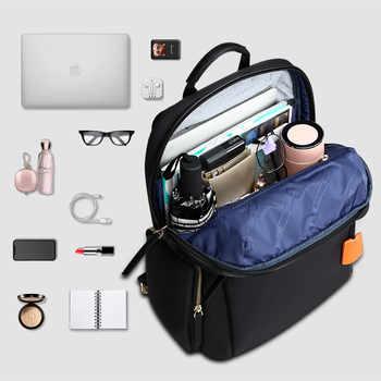BOPAI 2019 Women Backpack Waterproof OL 14inch Women Laptop Backpack Plecak Black Bagpack Travel Business Fashion mochila mujer