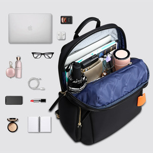 Image 3 - BOPAI 2020 Women Backpack Waterproof OL 14 Inch Women Laptop Backpack Plecak Black Bagpack Travel Business Fashion Mochila Mujer