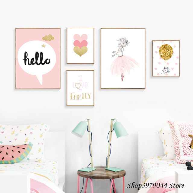 Baby Girl Room Decor Wall Art Paintings Posters And Prints ... on Room Decor Posters id=64021