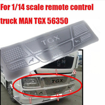 Tamiya man tgx stainless steel face grille decorative protective mesh for tamiya 1/14th scale rc man tgx 56325 56329 actros tamiya actros truck rear window grid decorative sticker decals for tamiya 1 14th scale rc man tgx 56325 56329 tractor trailer