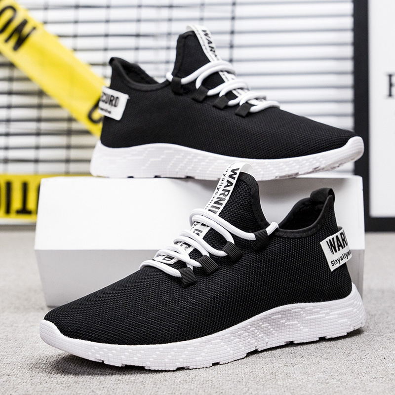 HTB18u7La8GE3KVjSZFhq6AkaFXaK - Mesh Shoes Men Fashion Casual Sneakers Lace Up Lightweight Breathable Walking Sneakers Tenis Masculino Zapatos Dropshipping