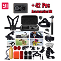 Edição internacional! Original XiaoYi 16MP WI-FI Câmera de Ação de Esportes 1080 P Ambarella A7 + 42 em 1 Cinto À Prova D' Água kit de acessórios