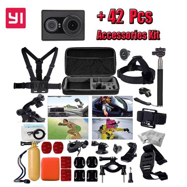 International Edition!Original XiaoYi 1080P Ambarella A7 16MP WIFI Sports Action Camera +42 in 1 Waterproof Belt Accessories kit