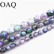 Опт 8 12 мм граненые бусины из натурального камня оникса фиолетовые
