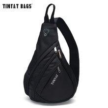 TINYAT borsa da uomo borsa a tracolla da uomo borsa a tracolla USB impermeabile borsa a tracolla Messenger borsa da viaggio nera per ipad T509