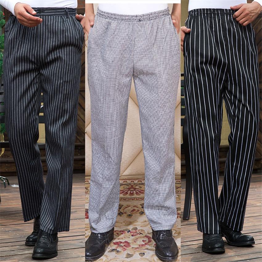 Hotel Cook Waiter Pants Cookchef Work Clothes Restaurant Chef Elastic Trousers Work Clothes Men Zebra Pants Uniform Wholesale