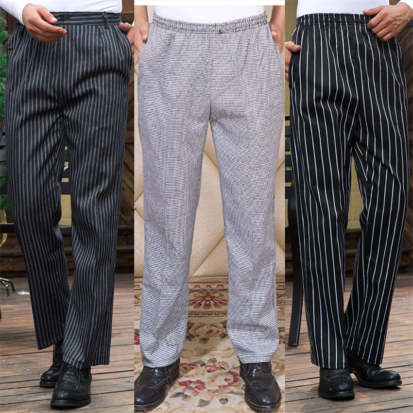 Hotel Cook Waiter Pants Cookchef Work Clothes Restaurant Chef Elastic Trousers Work Clothes Men Zebra Pants Uniform Wholesale image