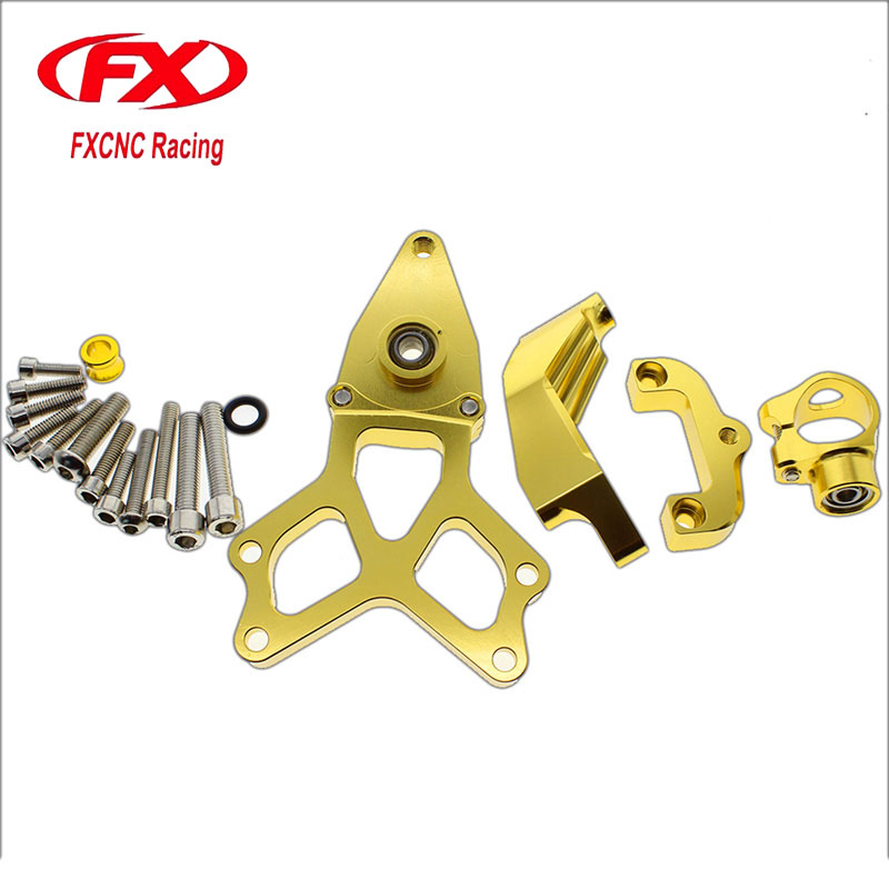 FX CNC Motorcycle Accessories Adjustable Steering Stabilize Damper Bracket Mounting Kits Fit for HONDA CBR1000 2008-2014 for honda cbr600rr cbr 600rr 2005 2006 fx cnc aluminum adjustable motorcycle steering stabilizer mounting bracket support kit