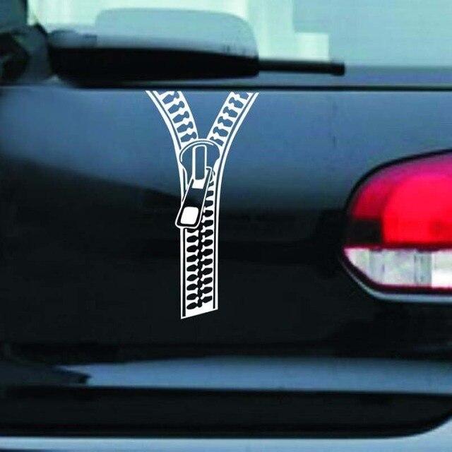 Car sticker creative zipper car stickers rear decals decoration accessories fastener