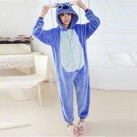 Blue Stitch Onesie Pajamas Pajama Adult Unisex Cosplay Animal Onesies For Adults Pajama Suit Free Shipping