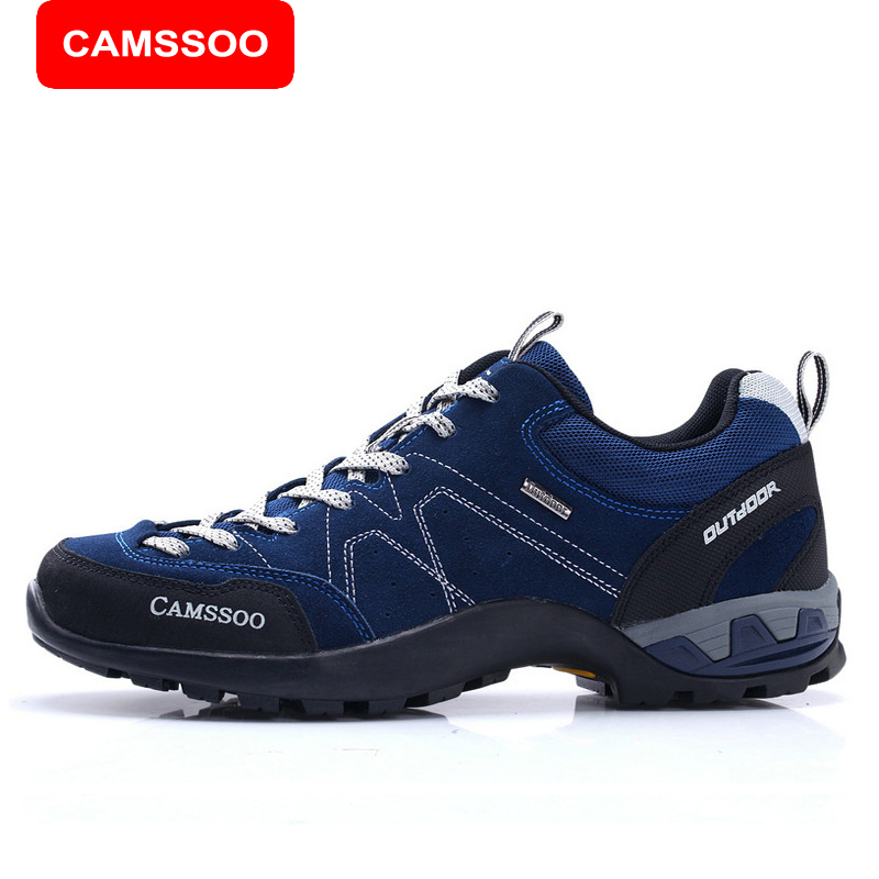 ФОТО CAMSSOO New Women Hiking Shoes Men's Outdoor Mountain Hiking Trek Climbing Sneakers Breathable Trekking Walking Athletic 3098