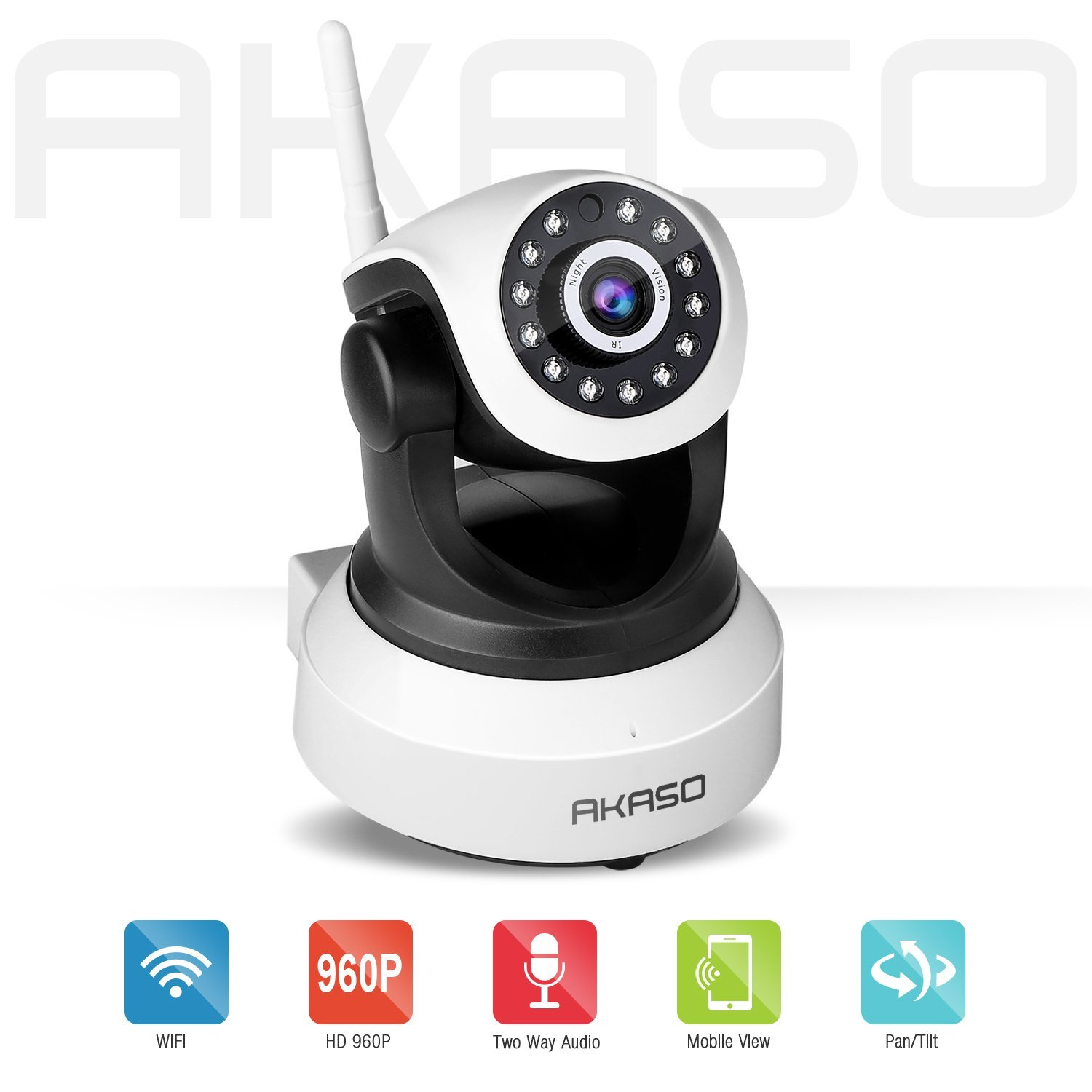 AKASO IP13M 903 High Quality HD Wireless Camera 1080P Home Night Vision Security Camera P2P 2