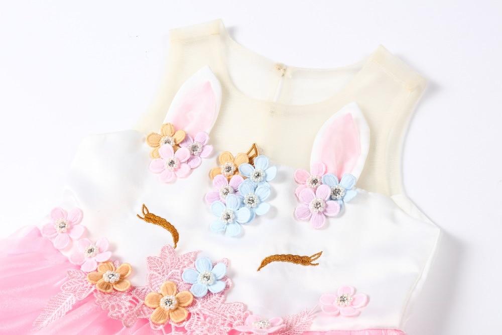 HTB18u86KeSSBuNjy0Flq6zBpVXaK New Girls Dress 3Pcs Kids Dresses For Girl Unicorn Party Dress Christmas Carnival Costume Child Princess Dress 3 5 6 8 9 10 Year