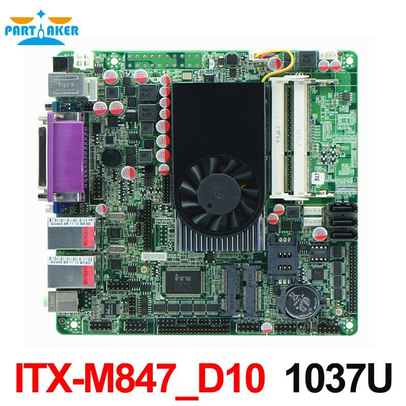 Mini ITX Промышленная материнская плата 847u DC 12 В 10 * COM Материнские платы pos машины промышленные мини itx-m847_d10