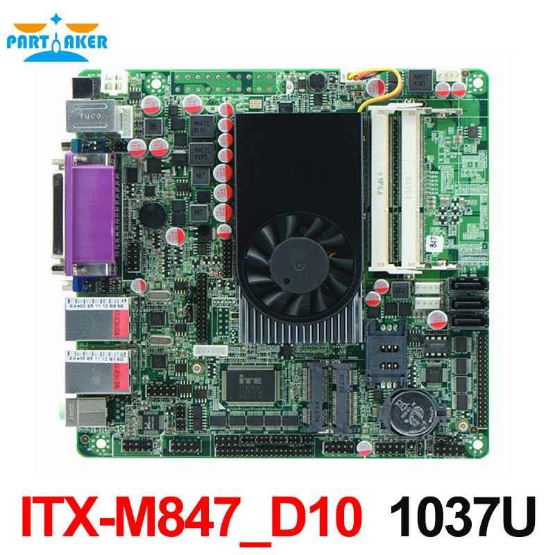 купить Mini Itx industrial motherboard 847U DC 12V 10*COM Motherboards POS Machine industrial Mini ITX-M847_D10 онлайн